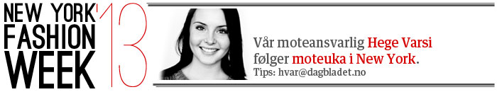 Dagbladets moteansvarlige Hege Varsi f�lger moteuka i New York.