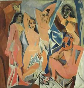- GROTESK: Pablo Picassos oljemaleri «Les Demoiselles d'Avignon» får skylda for å ha innledet styggedommen i den moderne nakenkunsten, av den spesielle foreningen. Foto: AP/The Museum of Modern Art
