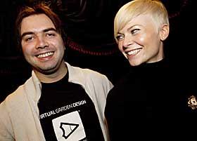 COVER-MAKEREN:  Bertine Zetlitz og grafisk designer Martin Kvamme (28), som står bak coveret til plata «Sweet Injections».