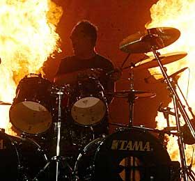 STORE:  Her ser vi Metallicas trommis Lars Ulrich fra Rock in Rio-festival i sommer.