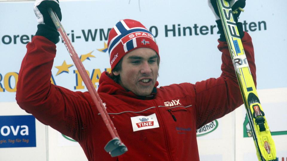 DOBBEL GULLVINNER 1: Thomas Northug tok sitt andre gull under junior-VM da han gikk tredje etappe for de norske guttene p� stafetten i Hinterzarten.Foto:  Tormod Brenna/Dagbladet