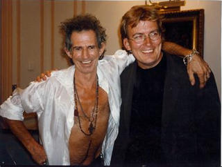 P� jobb: Med Rolling Stones og Keith Richards i Br�ssel. For Dagbladet.