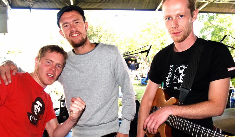 PUMA: �ystein Moen (f.v.), Gard Nilssen og dobbeltplateaktuelle Stian Westerhus. Foto: Terje Mosnes/Dagbladet