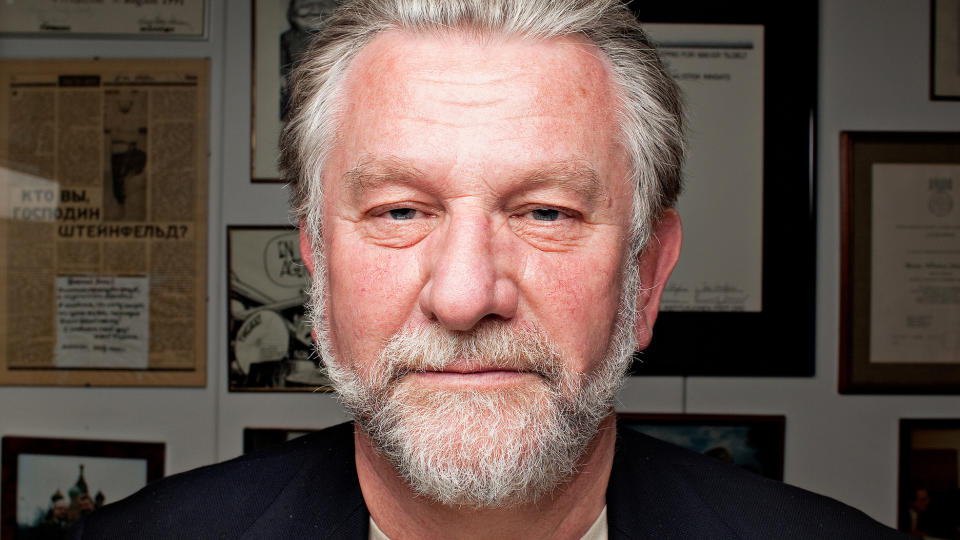 Ringrev: — Jeg har v�rt i kringkastingen i 34 �r og aldri hatt en kjedelig arbeidsdag, sier Steinfeld. Hans-Wilhelm Steinfeld. Foto: Jo Straube / Dagbladet