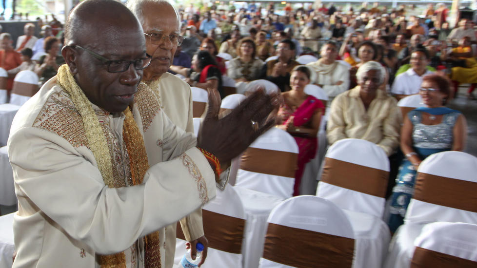 WARNER'S LAST DANCE? FIFA's Vice President Jack Warner arrives for celebrations held to mark the 165th anniversary of Indian Arrival Day at Divali Nagar in Chaguanas May 30, 2010. Today he's on the agenda of FIFA's Ethics Committee. Photo: Reuters/Andrea De Silva/Scanpix