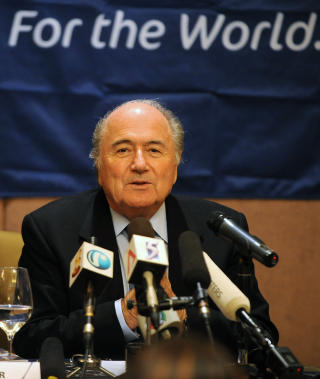 ...DID IT AGAIN: FIFA president Sepp Blatter has declared war on the black market ticket companies. His own close friend and colleague, Jack Warner, has in outmost secrecy cooperated with a such company. Foto: AFP/Scanpix