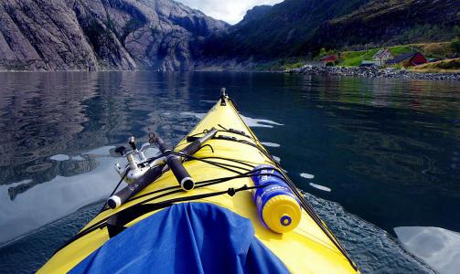 FRØYSJØEN:  Norge seiler opp som et populært kajakkland.  Her på vei inn mot Vingen i Frøysjøen.     Foto: Kirsten Margrethe Buzzi/Dagbladet