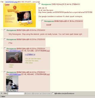 TAR �REN: Brukerne av 4chans forum /b/ mener de har avgjort konkurransen. Skjermdump: 4chan.org