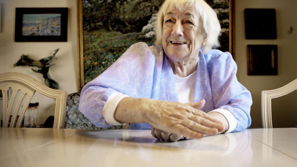 LIVLIG: Margit Sandemo kan fortelle om et eventyrlig liv. Foto: Lars Eivind Bones / Dagbladet