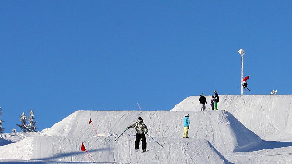 TRYSILFJELLET:  Terrengparken er blant Norges beste og har egen stolheis. Foto fra skisesongen i februar, tatt av Dagbladets Hilde Schjerve.