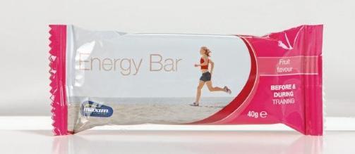 BEST I TEST: Maxim Energy Bar Fruit har et h�yt innhold av karbohydrater og ok mengde proteiner og fett. Foto: BJ�RN INGE KARLSEN/HM FOTO