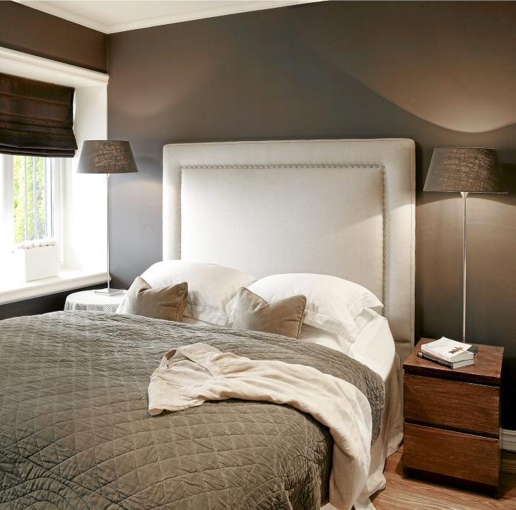 GRÅTT: Grånyanser en en god farge til soverommet. Gavlen er god å ...