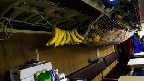 PROVIANTLAGER: Maten lagres der det er praktisk. Foto: H�kon Eikesdal