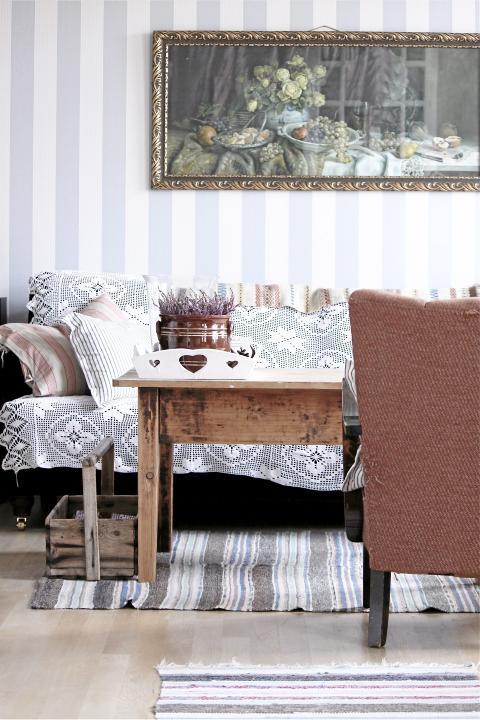 NOSTALGISK STUE: Blogger Livs lyst har en nostalgisk stue, med elementer mange kjenner igjen. FOTO: Livs lyst