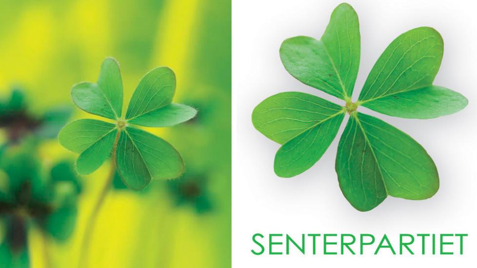 IDENTISKE: Senterpariet lanserte 6.desember sin nye logo som er en ekstakt kopi av et bilde som ligger p� flere fildelingssider. Foto: Photobucket / Senterpariet