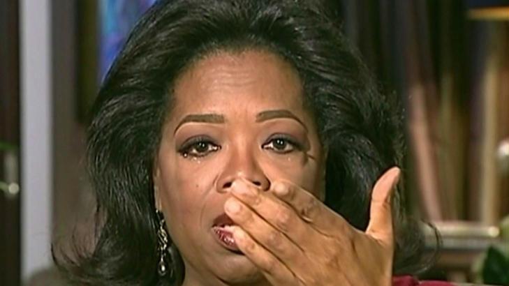 TOK TIL T�RENE: Oprah begynte � gr�te da Barbara Waters spurte om hun er lesbisk. Foto: Stella Pictures