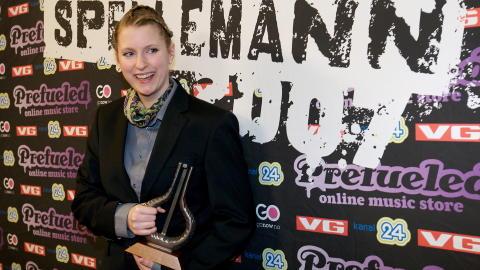 F�RST OG FREMST ARTIST: Susanne Sundf�r ble k�ret til beste kvinnelige artist under Spellemann-utdelingen i 2007, men anerkjente ikke seieren. Fra scenen snakket hun Spellmannprisen midt i mot. Foto: Eirik Helland Urke / Dagbladet