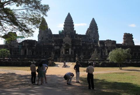 TEMPEL: Angkor Wat-tempelet er det best kjente og best bevarte tempelet i omr�det rundt Siem Reap. Foto: SIRIL K. HERSETH