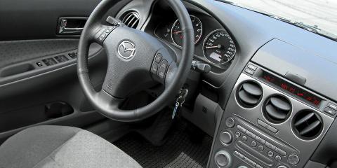 PENT I PLAST: Mazda 6 hadde et pent, men litt plastpreget dashbord som st�r seg bra mot andre bruktbiler i perioden 2002-2007.