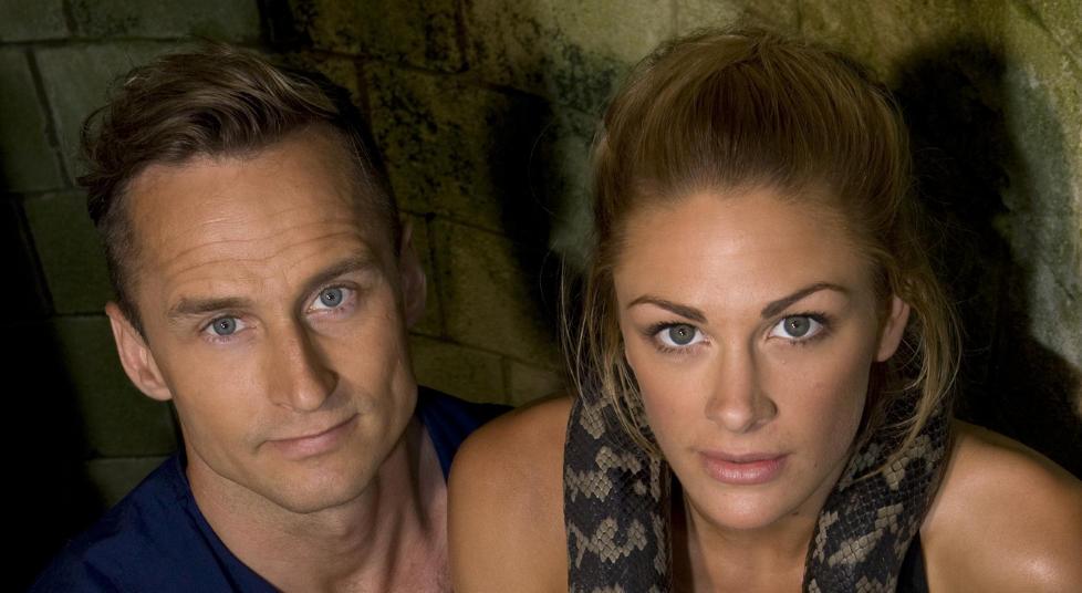 TRAKK SEERE:  Programlederduoen Jenny Skavlan og Daniel Franck har fått en pangstart. Aldri før har et premiereprogram på TV3 trukket flere seere enn «Fangene på fortet» gjorde i går kveld. Foto: TV3.