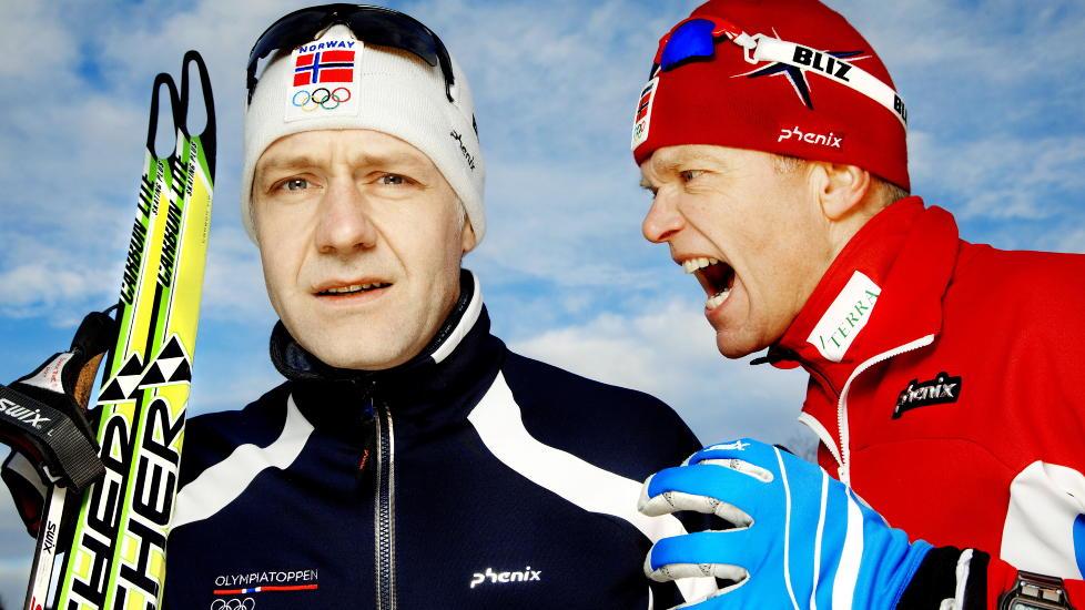 � v�re Petter Northug:: Skuespiller Mads Ousdal trener til Nortug- form med hjelp av trener Audun Svartdal. Foto: Agnete Brun / Dagbladet