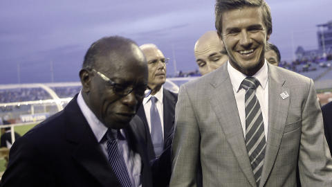 NOT SO CLOSE ANYMORE: Jack Warner declared himself a supporter of the English bid for the 2018 World Cup. When the press began revealing FIFA's dirty secrets, he turned his back on David Beckham & Co. Photo: AFP/Frederic Dubray/Scanpix