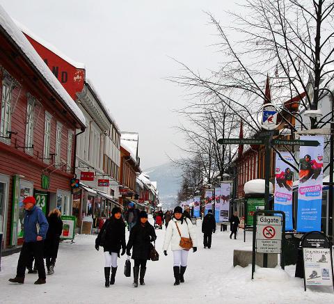 G�GATA: Sjusj�en ligger bare to mil fra Lillehammer. Foto: KIRSTEN M. BUZZI