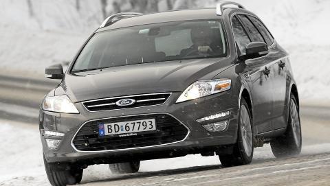 ST�DIG: Ford Mondeo har alltid v�rt blant de mest velkj�rende bilene i sin klasse. P� veien oppleves den som stabil og inkluderende. FOTO: Egil Nordlien, HM Foto