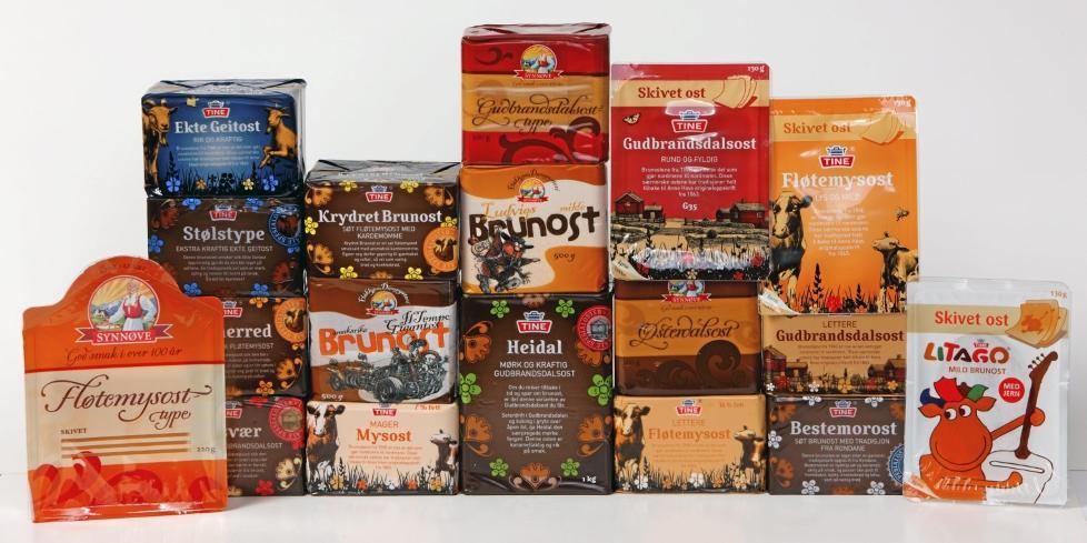 TEST: DinKost.no har sjekket n�ringsinnholdet i 18 typer brunost. Foto: Bj�rn Inge Karlsen, HM Foto