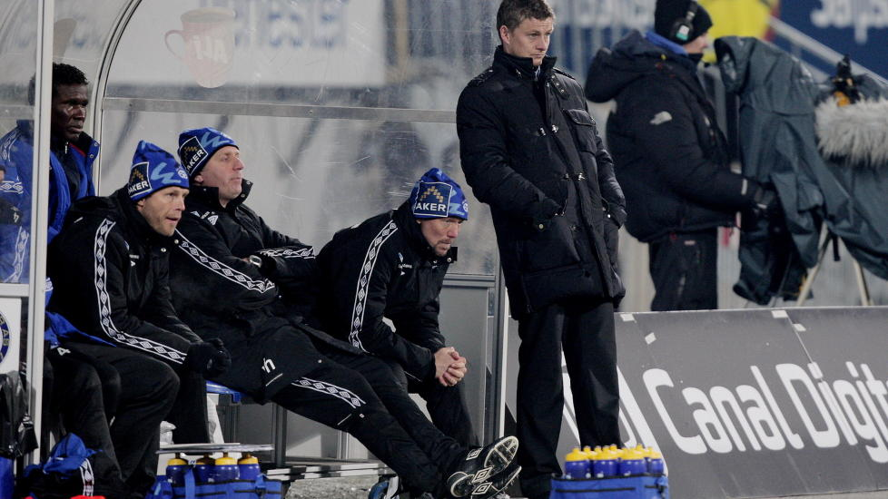 TØFF START: Moldes manager Ole Gunnar Solskjær fikk ikke den returen til Tippeligaen han hadde ønsket seg. Foto: Stian Lysberg Solum, Scanpix
