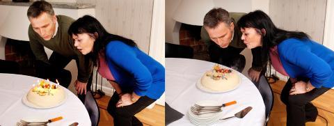 BURSDAGSBARN: - For en flott fyr Jens var, s� jordn�r, sier Elisabeth etter at vi har tatt disse bildene og statsministeren m� tilbake til m�ter.  Foto: Agnete Brun / Dagbladet