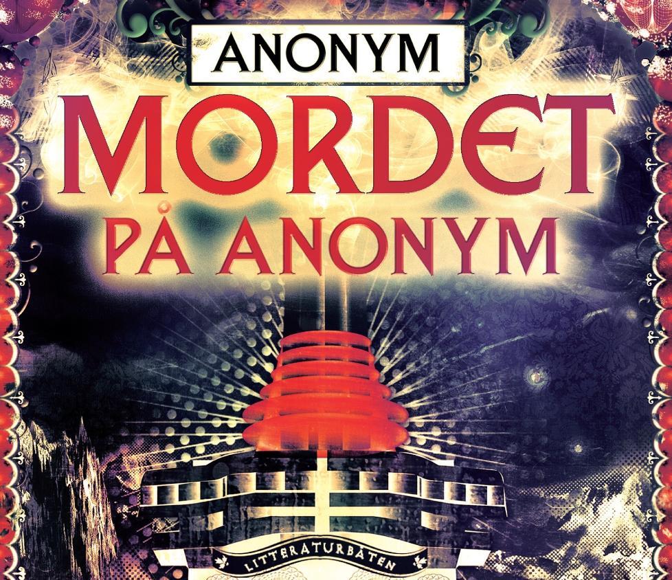 OMSLAG: Slik er omslaget p� boka �Mordet p� Anonym�, skrevet av den mystiske og ukjente forfatteren �Anonym�. Romanen gis ut p� Kagge forlag.