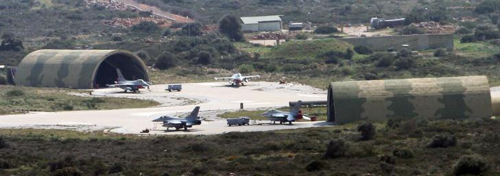 HER HOLDER DE TIL: Her st�r de norske F16-flyene stasjonert p� Souda Bay-basen p� Kreta. Foto: Kristoffer Egeberg/Dagbladet