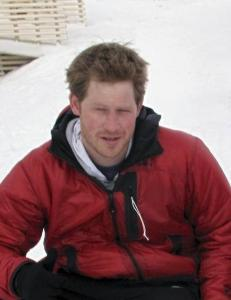 Prins Harry st�r fast ved Nordpolen