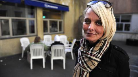 SKUFFET:  Leder Lene Andreassen i NDL h�pet � samle 100 tilhengere. Det kom bare ti. Foto: �istein Norum Monsen / Dagbladet