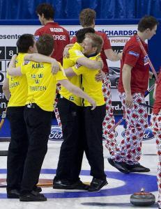 Medaljen glapp for curlinggutta