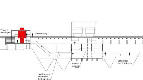 STORT: Museet blir på 3000 kvadratmeter, og skal romme både faste og skiftende utstillinger. Foto: CODE ARKITEKTUR