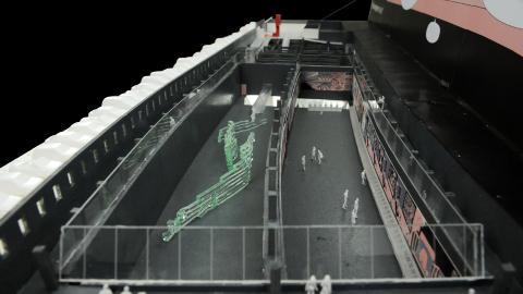 GOD PLASS: Museet vil f� to store kunsthaller. Foto: CODE ARKITEKTUR