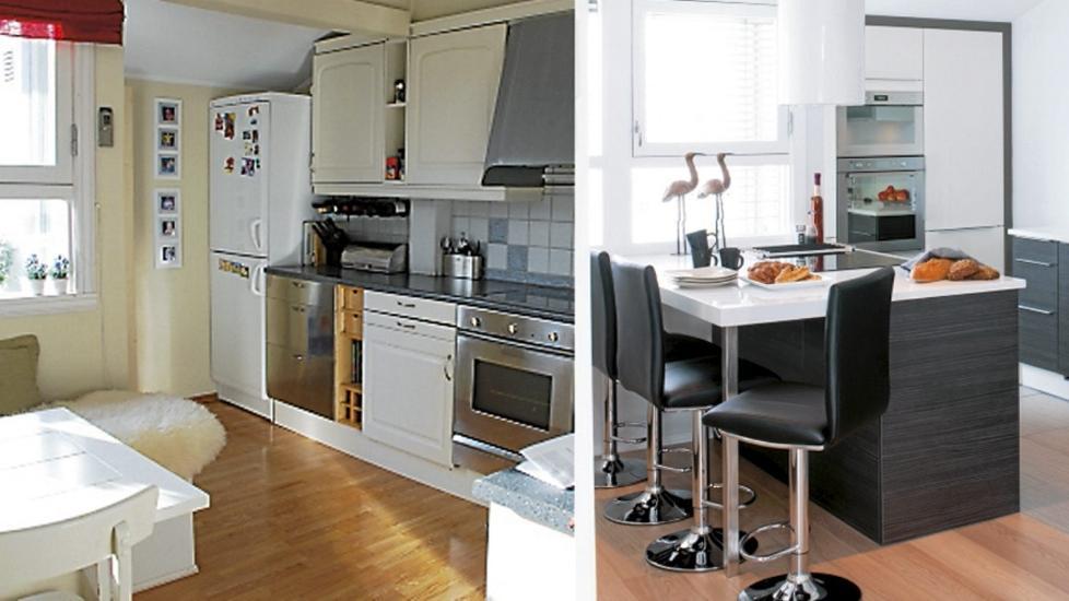 Kjøkkenet ble totalforandret