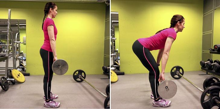 STRAK: Stopp bevegelsen n�r hamstring og hoftestrekkerne er maksimalt strukket. Foto: Cecilie Holtan
