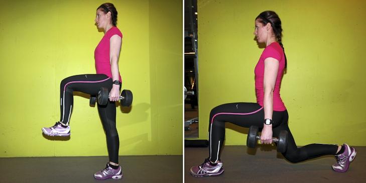 UTFALL: Hold kroppsvekten p� fremre bein og strekk ut kne- og hofteledd til man kommer opp til oppreist stilling.  Foto: Cecilie Holtan