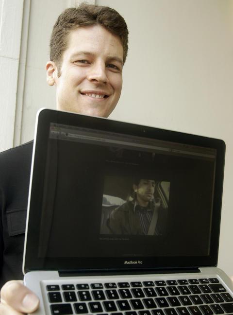 DEN SOM LER SIST... Joshua Kaufman brukte et spionprogram for � finne ut hvem som brukte hans stj�lne datamaskin. Foto:AP/Jeff Chiu