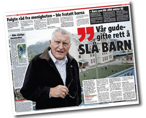 SKAPTE DEBATT: Menighetsleder Einar Eng�y i en lokal menighet under Churches of Christ p� Skedsmokorset. Faksimile: Dagbladet