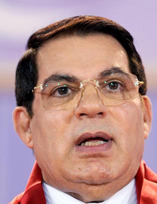 Ben Ali for retten i Tunisia