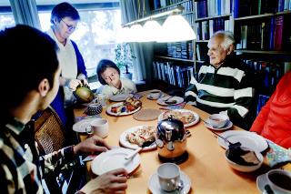 Familiekos: Henriette gledet seg lenge til at besteforeldrene skulle komme fra Tyskland.