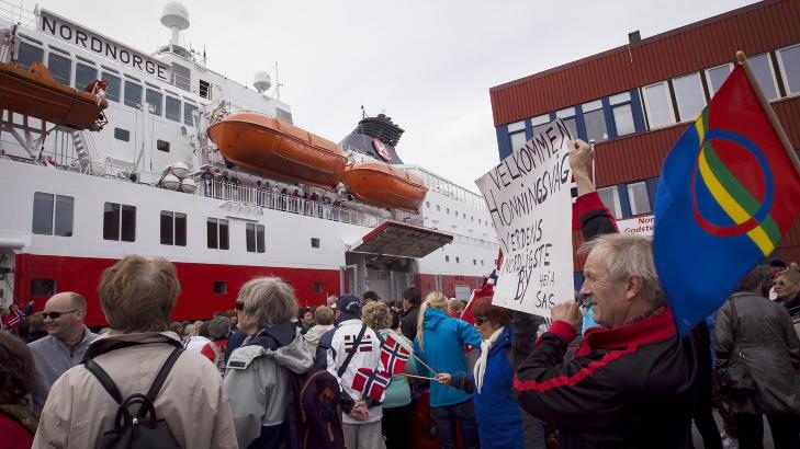 - STYGT: De fleste stedene Hurtigruten stopper ved langs kysten er stygge, sier Trond Blindheim. Likevel synes vi det er r�rende vakkert.  Foto: Heiko Junge / Scanpix