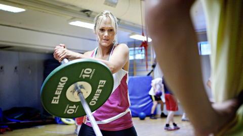 Dagligdags: Hver dag, så fremt formen tillater, trener Karina Hollekim på Toppidrettssenteret. Samboer Bejamin er også hennes personlige trener. Foto: Nina Hansen