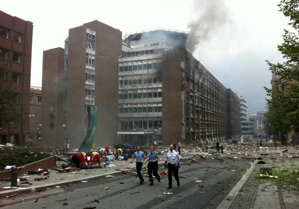 Regjeringskvartalet rammet av stor eksplosjon