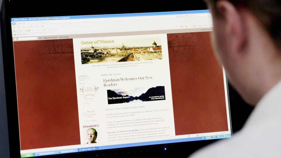 MISLIKER � BLI BRUKT AV BREIVIK: Fjordman kommenterte i g�r Anders Behring Breiviks bruk av hans materiale.  Foto: Elisabeth Sperre Alnes/Dagbladet