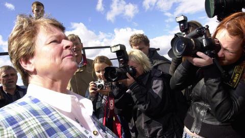 WHO-SJEF: Gro Harlem Brundtland har flere ganger bes�kt Ut�ya, her som WHO-sjef. Foto:Thomas Bj�rnflaten / SCANPIX